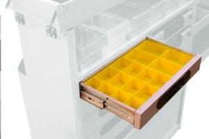 Tiroir avec boîtes en plastique H=80
