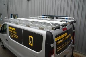 Galerie de toit utilitaire acier Trafic